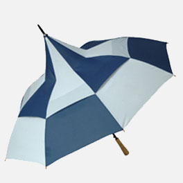 Big Top Blue White Promotional Umbrella