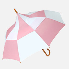 Big Top Pink White Promotional Pagoda Umbrella
