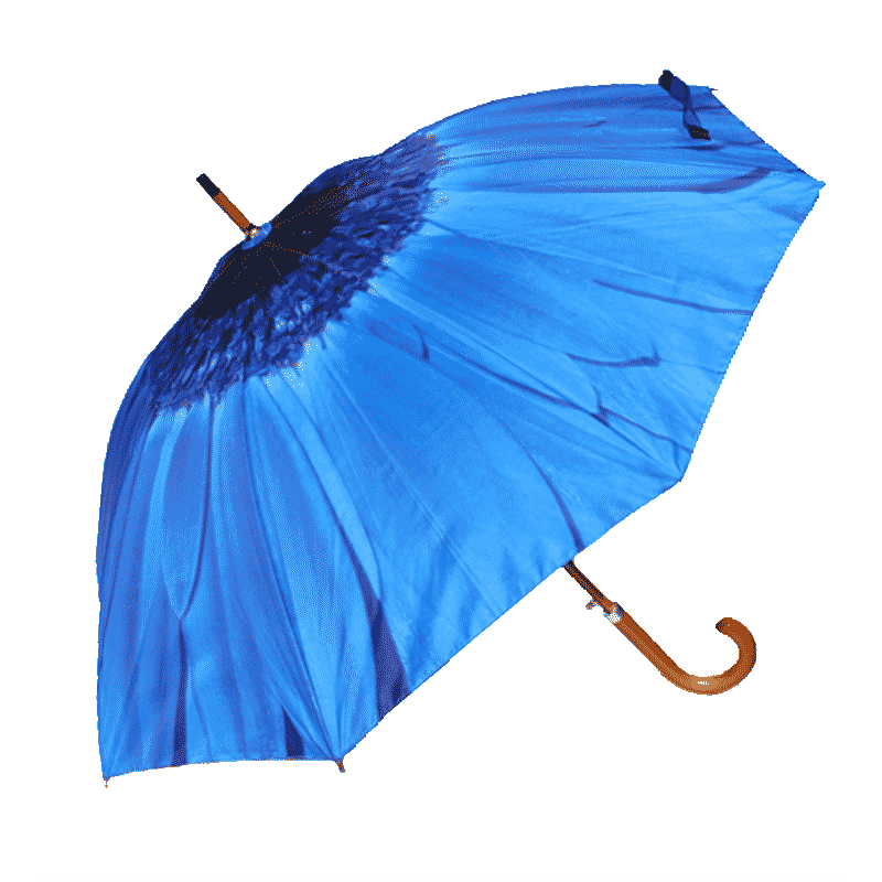 Blue Flower umbrella side view