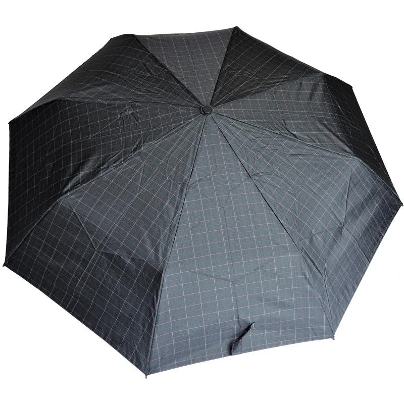 Ezpeleta Mens Grid Patterned Fully Automatic Folding Umbrella