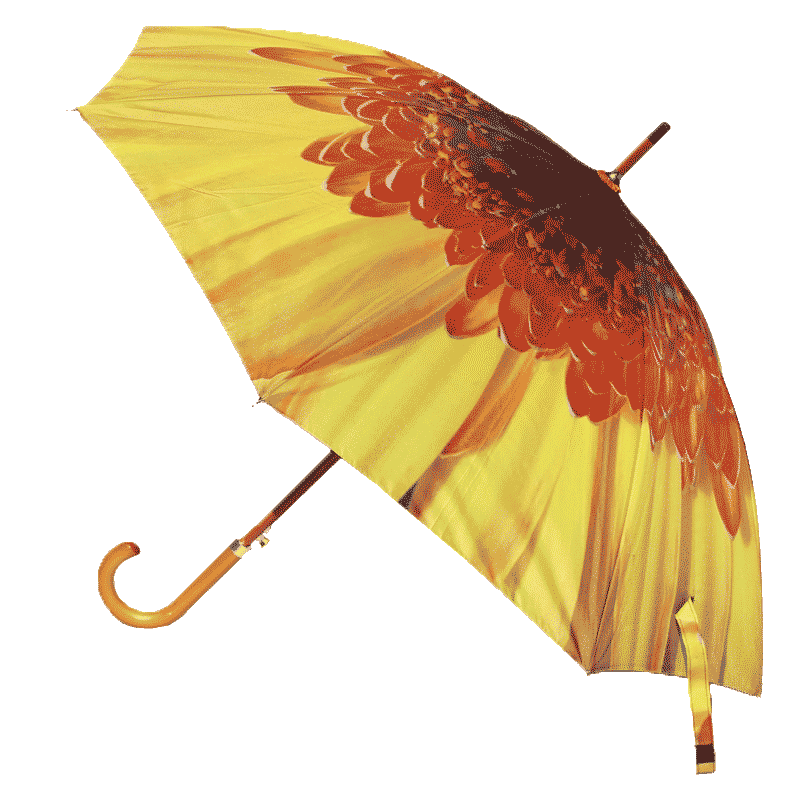 Yellow Flower Umbrella Side View