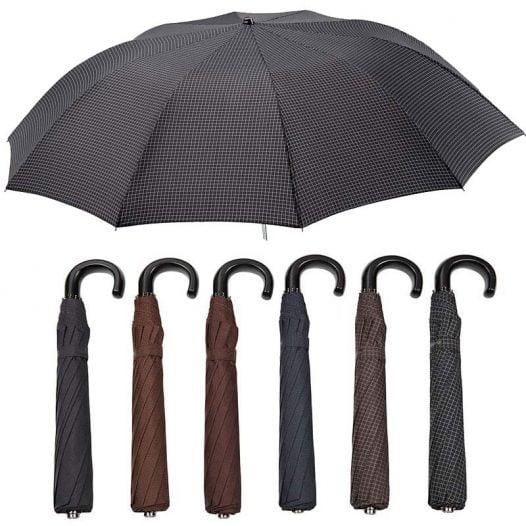 Ezpeleta Large Folding Automatic Crook Handle Umbrella