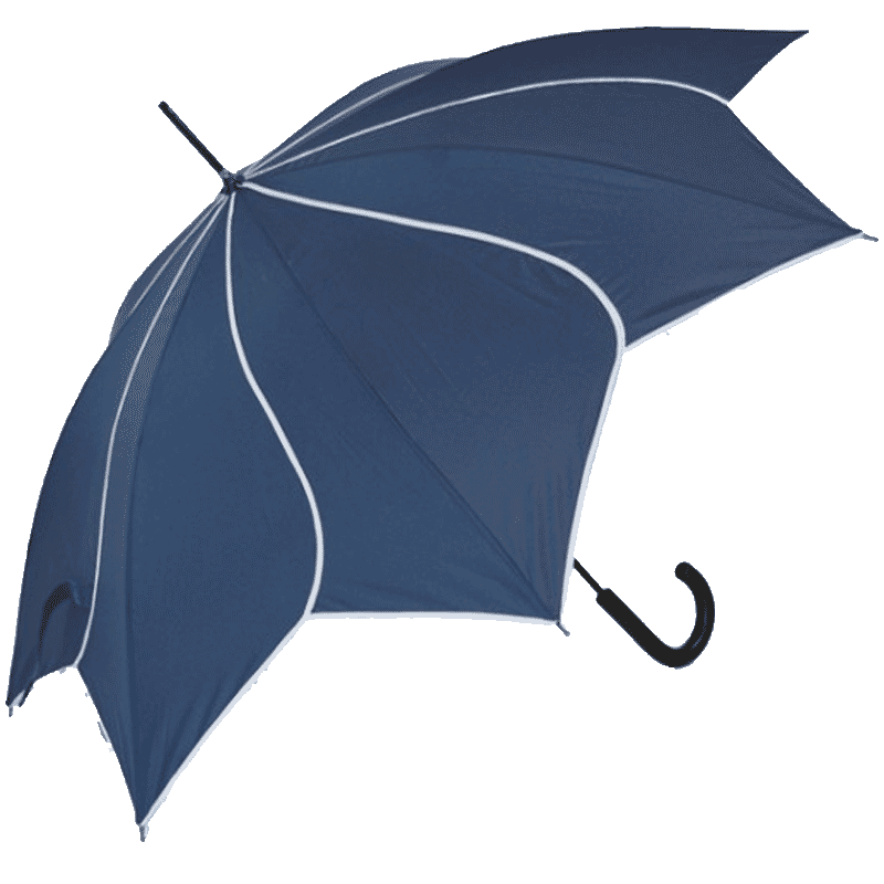 Navy Flower Umbrella