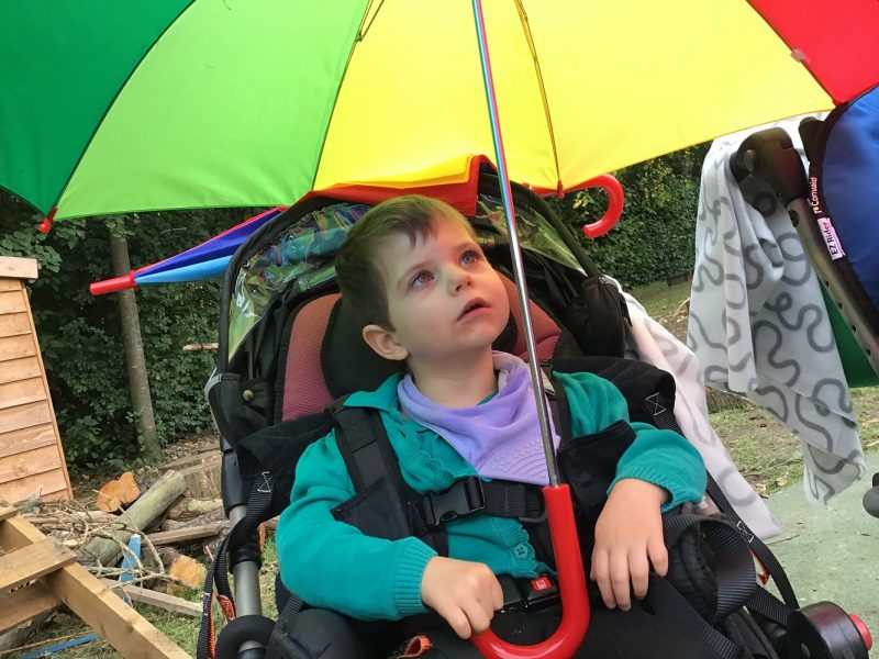 rainbow childrens umbrella