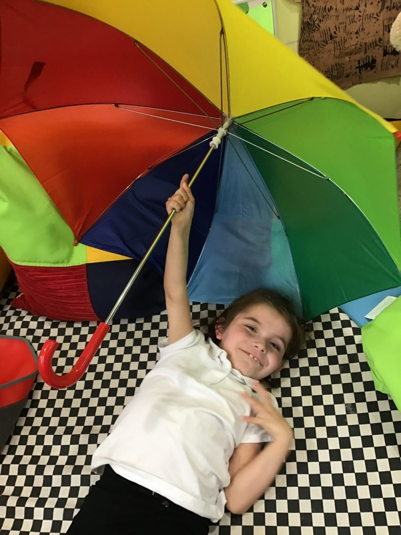 childrens rainbow umbrella special needs school