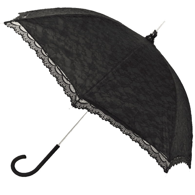 Vintage Umbrella Black Lace