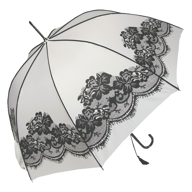 Vintage Umbrella White