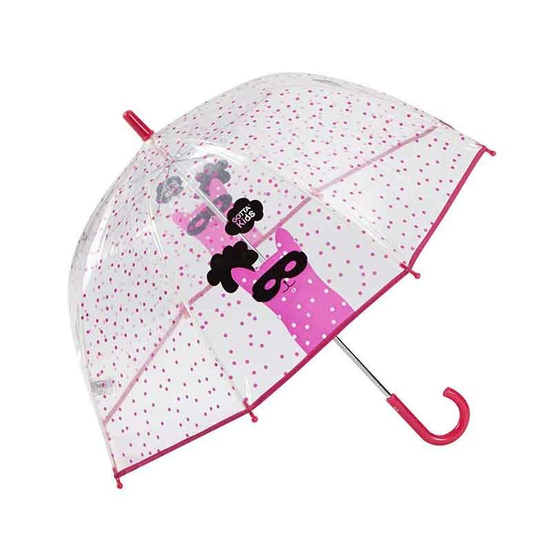Cat Mask Kids Clear Umbrella 2 open