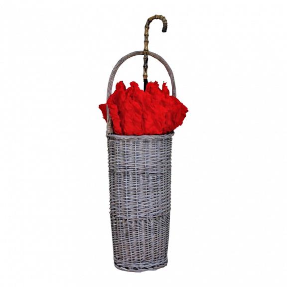 wicker umbrella stand