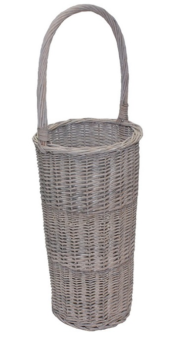 Wicker Umbrella Stand grey