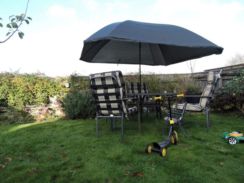 PitchPal Umbrella Tent as garden parasol