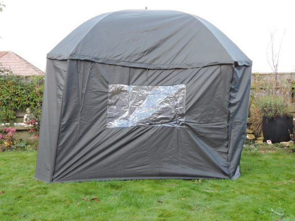 PitchPal Umbrella Tent closed front view