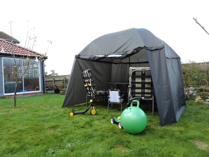 Umbrella Tent PitchPal open front angled
