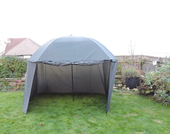 PitchPal Umbrella Tent open front empty