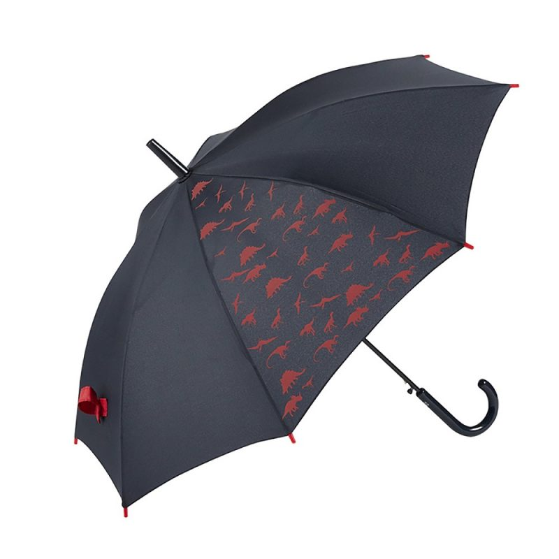 DINOSAUR Kids Automatic Umbrella – Red