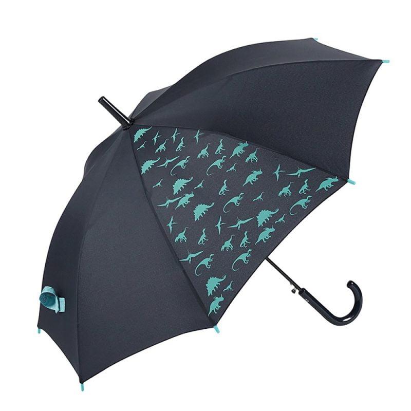 DINOSAUR Kids Automatic Umbrella – Blue