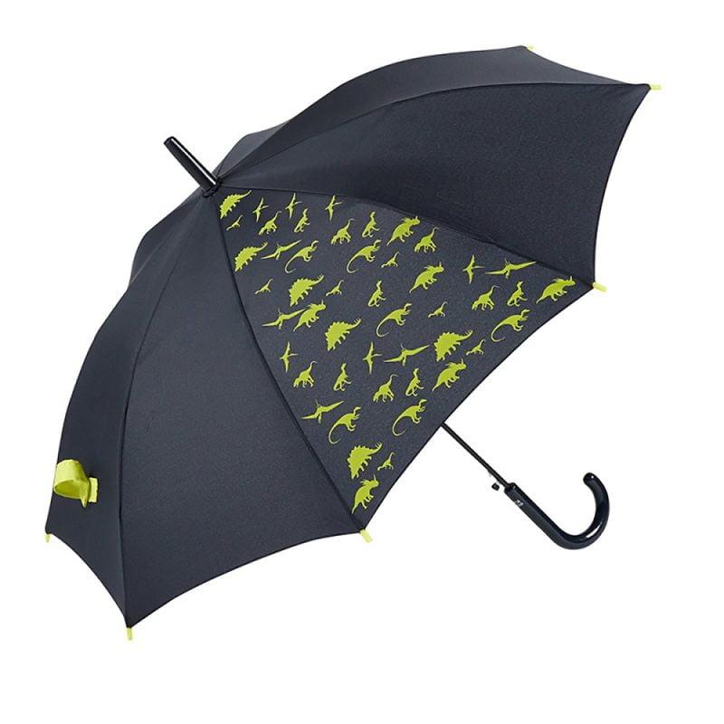 DINOSAUR Kids Automatic Umbrella – Yellow