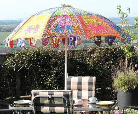 Boho Umbrella in table