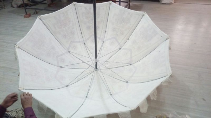 Boho parasol Indian Garden Umbrella inner frame