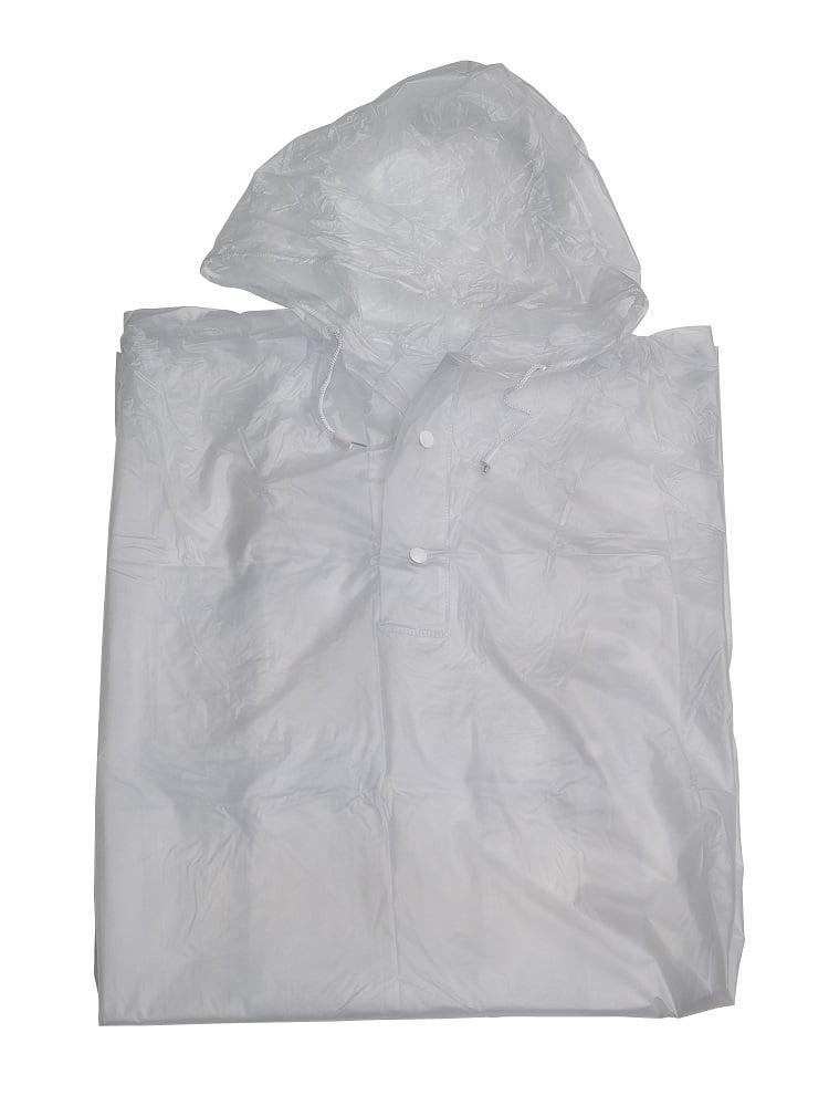 Clear / white festival rain poncho
