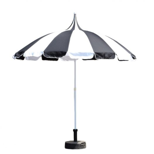 Pagoda Patio Umbrella Black and White