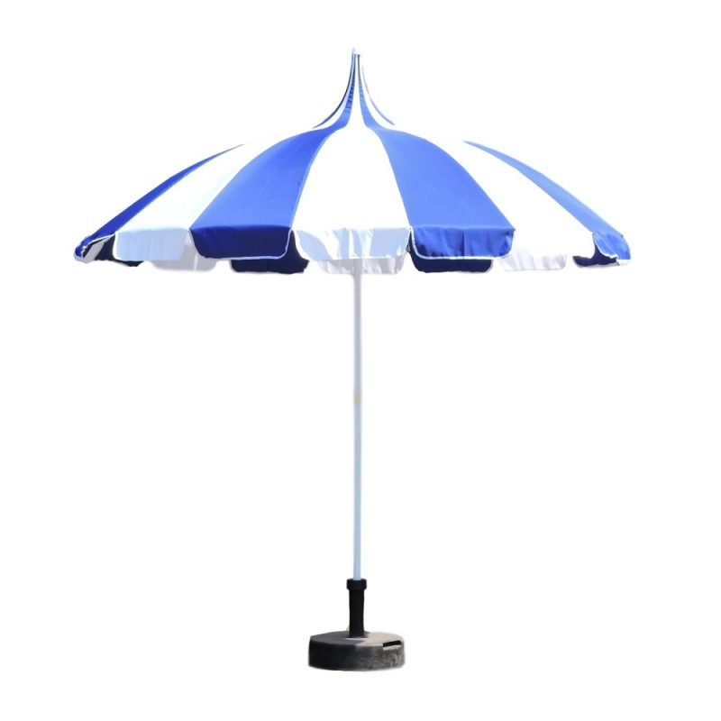 Blue and White Patio Pagoda Umbrella