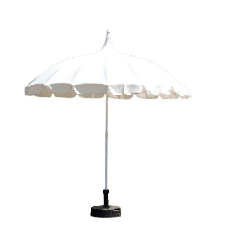 Ivory Patio Pagoda Umbrella Natural Beige Cream