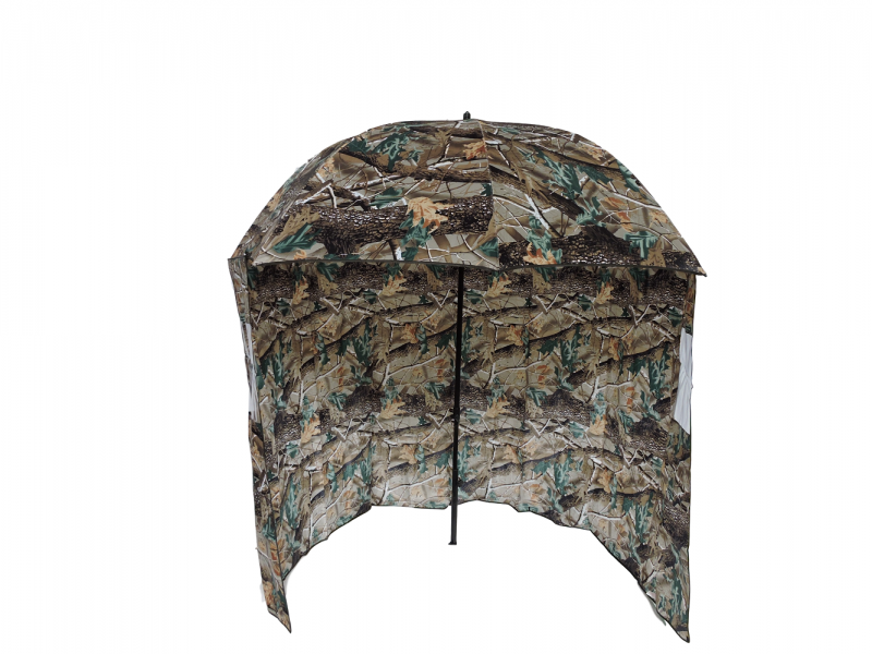 Camo Fishing Shelter Umbrella front view