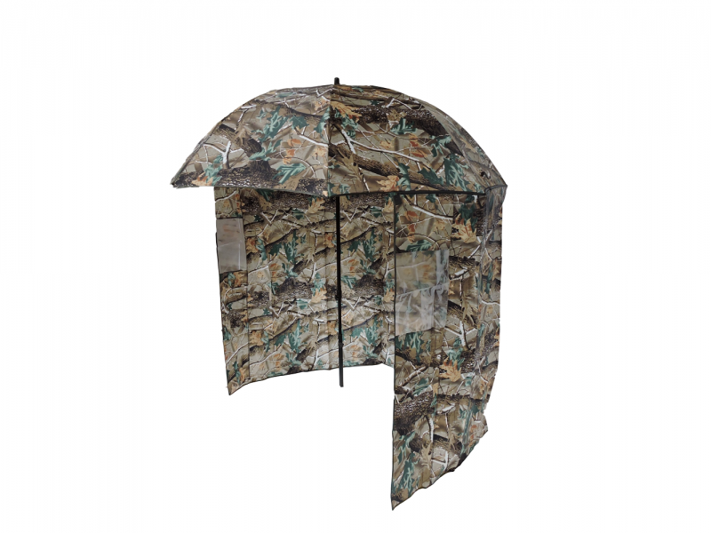 Camo Shelter Fishing Umbrella side view