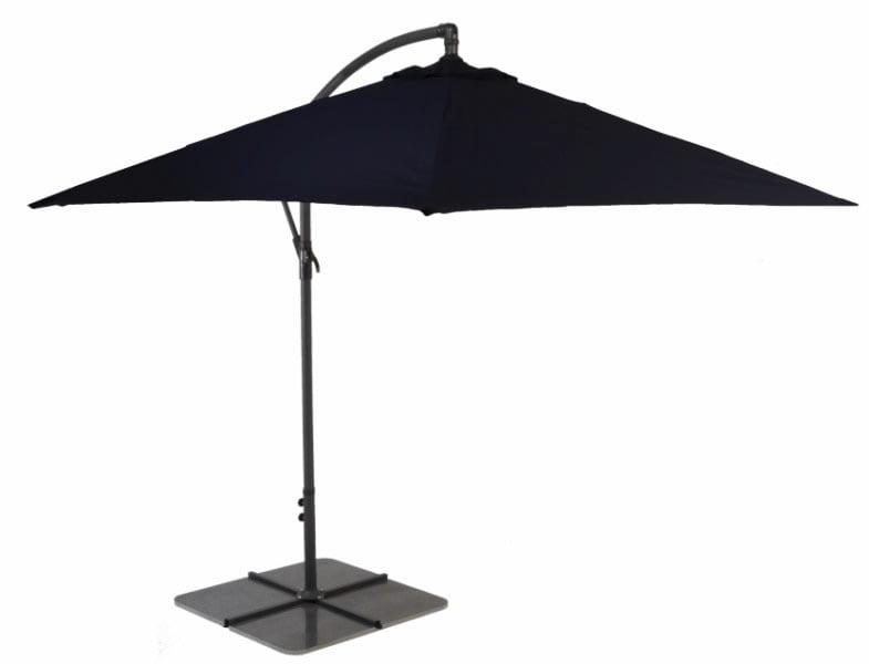 Black 3m Cantilever Patio Umbrella - Aluminium