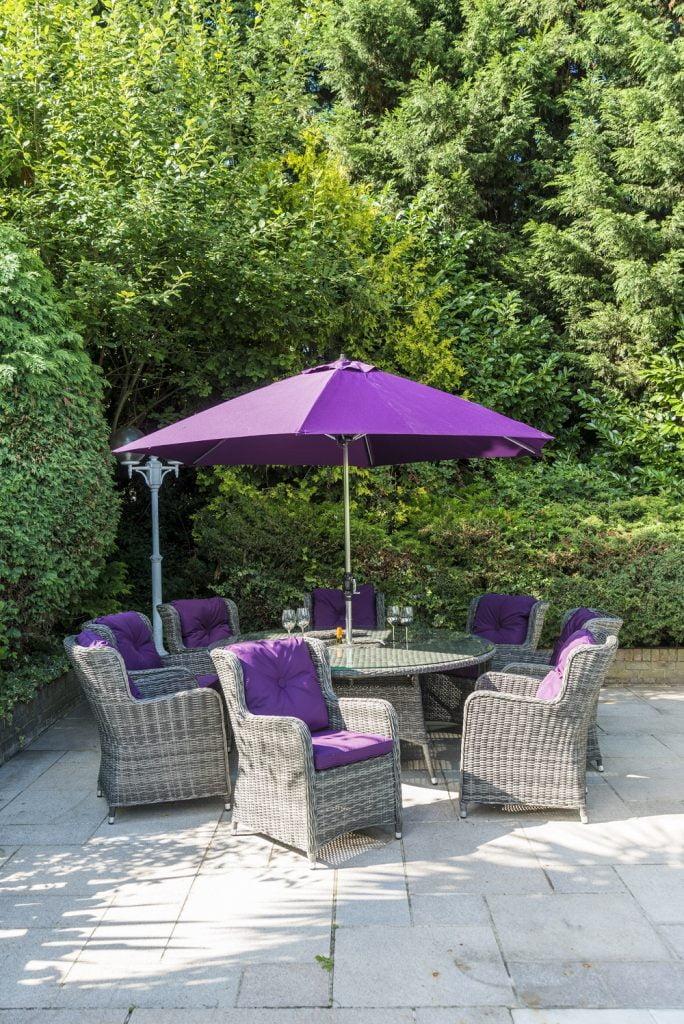 plum aluminium parasol
