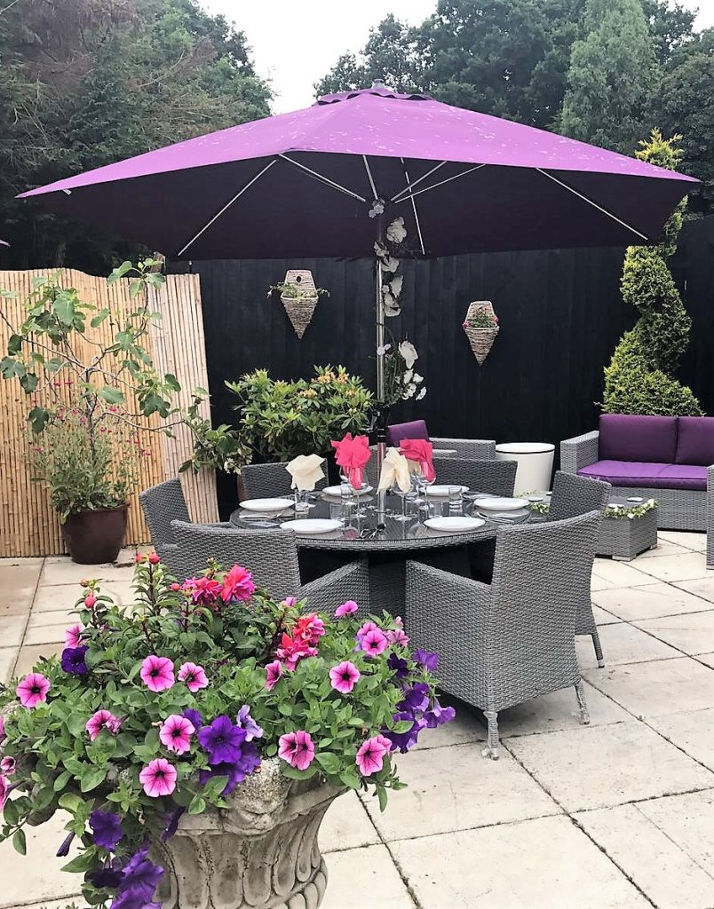 plum aluminium garden umbrella