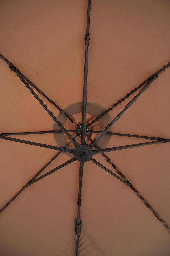 3.5m cantilever umbrella underside