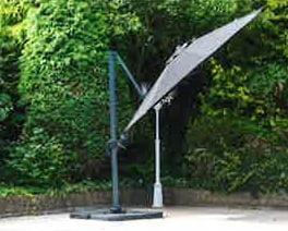 premium 3.5m cantilever parasol tilted