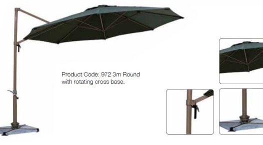 premium 3 metre cantilever parasol