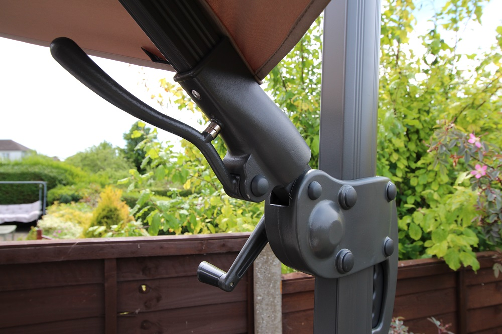 premium 3.5m cantilever parasol Easyslide Mechanism