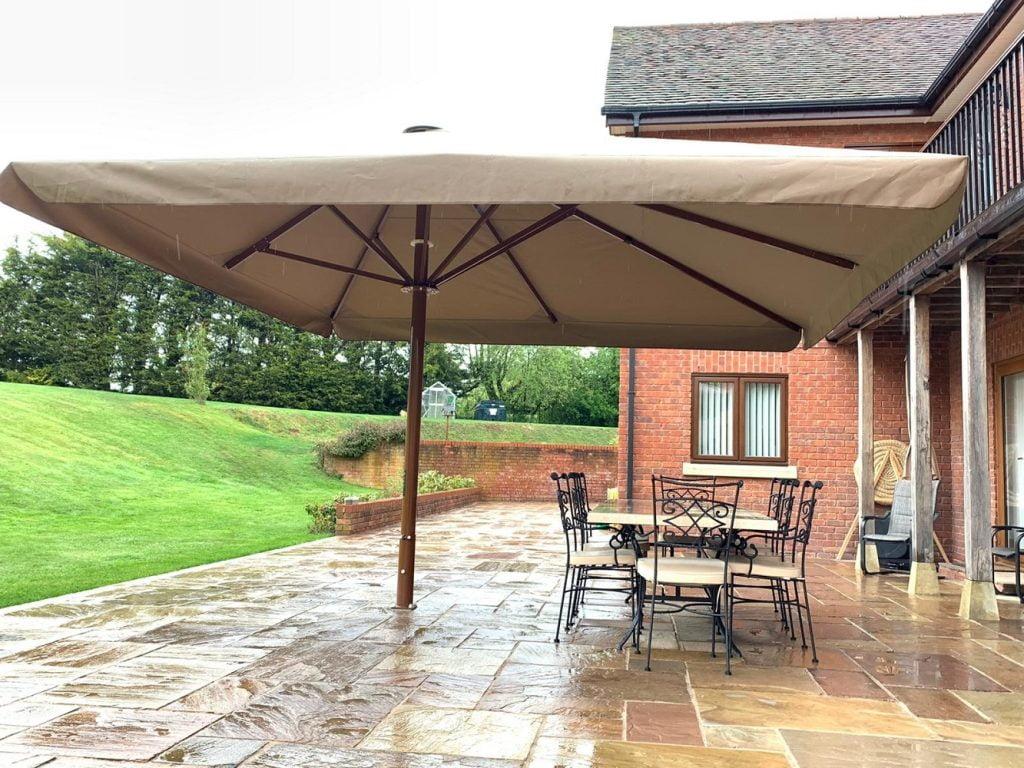 4m x 5m offset giant garden parasol