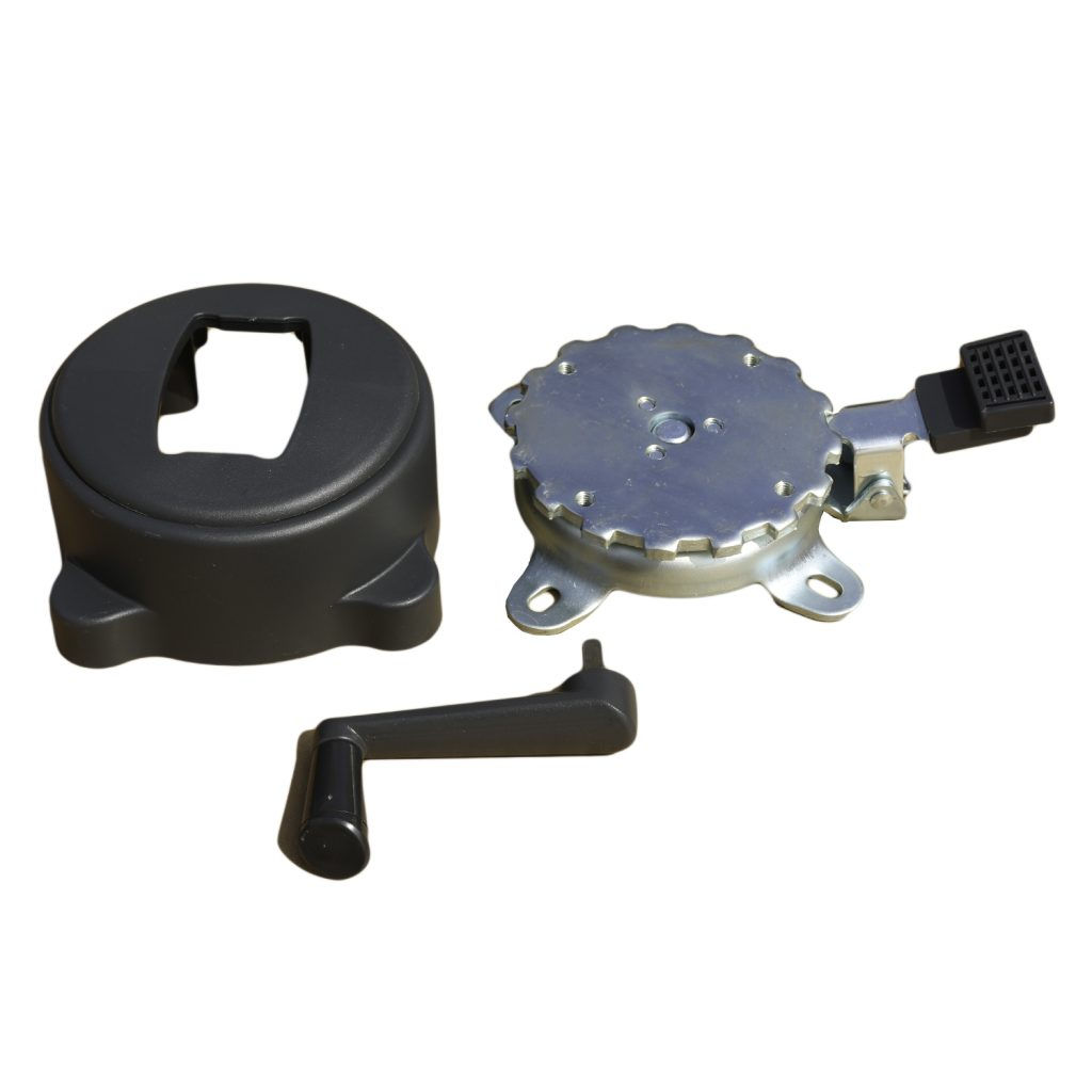 Foot pedal mechanism and crank handle components