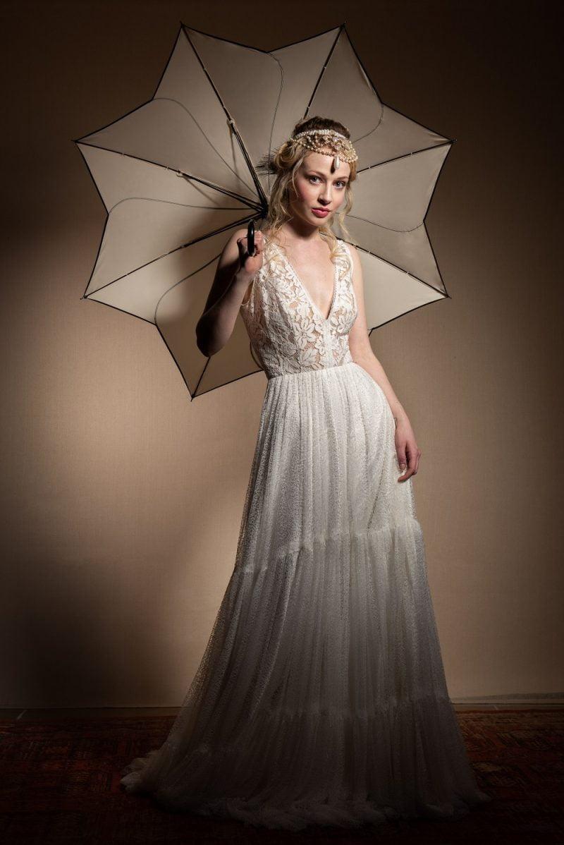 Wedding Umbrella - Petal Swirl