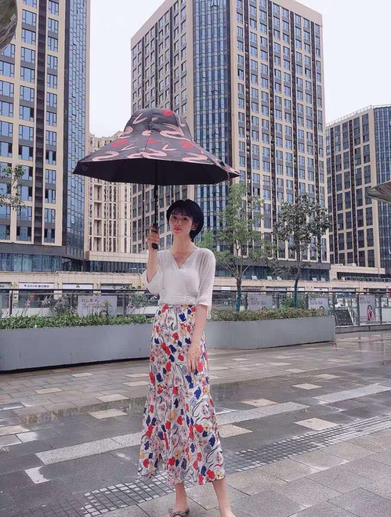 Hat Umbrella in the city