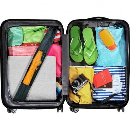 Portable beach parasol - storage