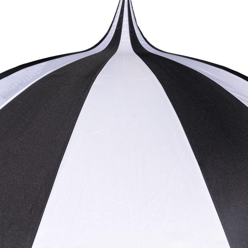 Top of Black and White Pagoda Garden Umbrella