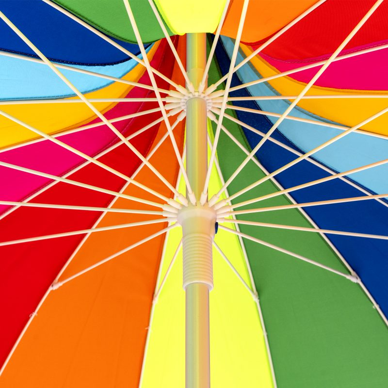 Underside of Rainbow Pagoda Garden Parasol