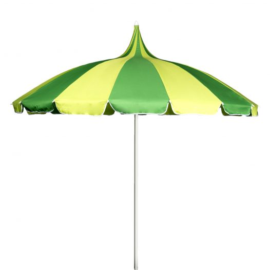 Green and Yellow Pagoda Garden Parasol