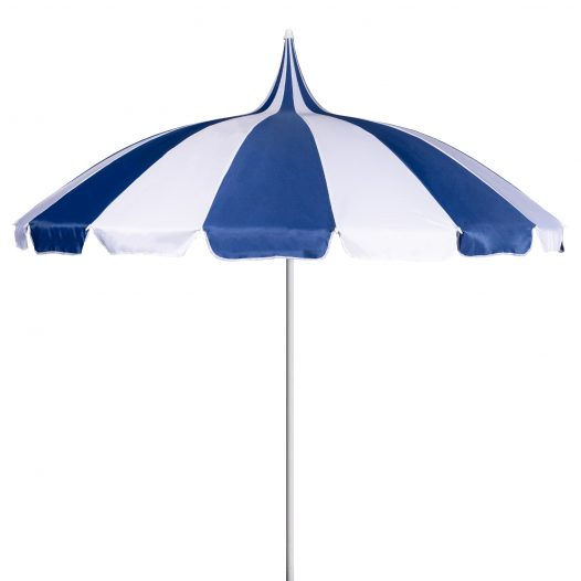 Navy and Cream Pagoda Garden Parasol