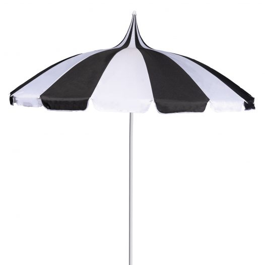 Black and White Pagoda Garden Parasol