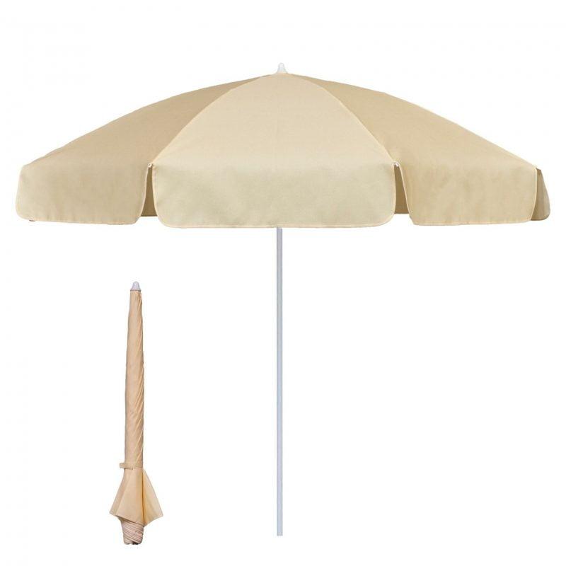2m garden parasol - ivory/natural