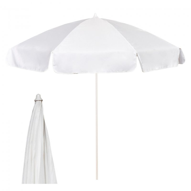 2m garden parasol - white