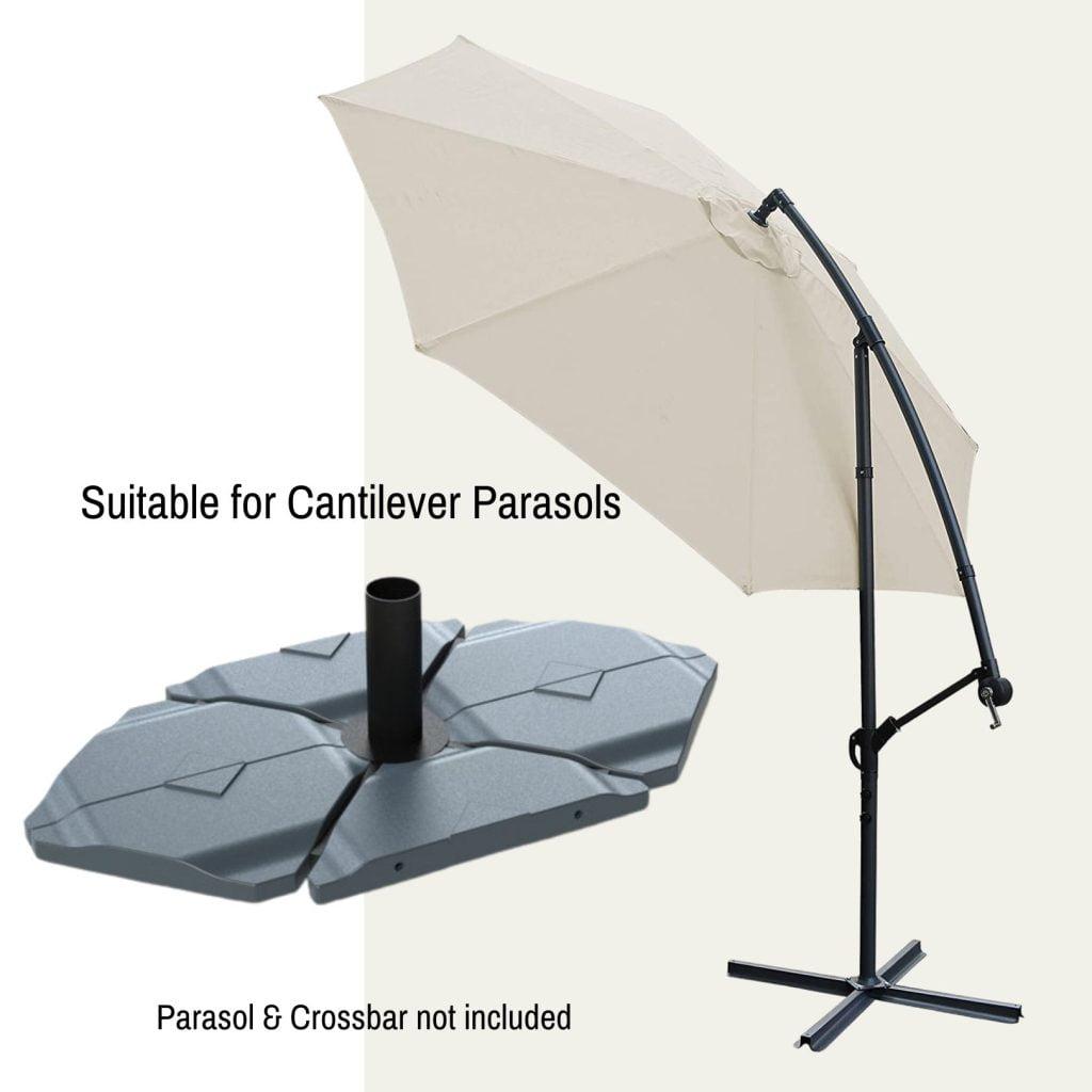 60kg cantilever parasol cross base base tiles