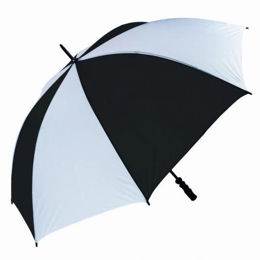 Windproof Black & White Golf Umbrella